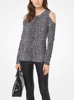 Michael Kors Cheetah Peekaboo Pullover