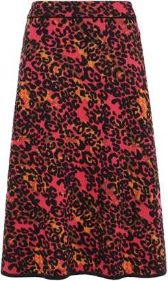 M Missoni Leopard-print Jacquard-knit Skirt