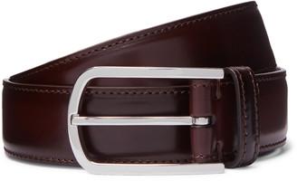 Brunello Cucinelli 3cm Dark-Brown Leather Belt