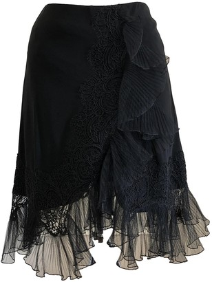 Christian Lacroix Black Silk Skirt for Women Vintage