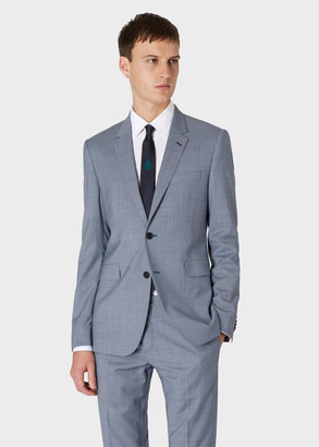 Paul Smith Men's Slim-Fit Indigo Houndstooth Wool Two-Button Blazer