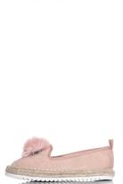 Quiz Pink Pom Pom Hessian Pumps