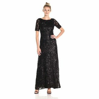 Adrianna Papell Women's Stretch Sequin Tulle Gown