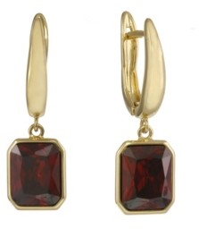 Christian Siriano New York Christian Siriano Gold Tone Drop Earrings with Pink Stones