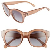 Women's D'Blanc Champagne Coast 51Mm Gradient Square Retro Sunglasses - Amber/ Grey Pink Grad