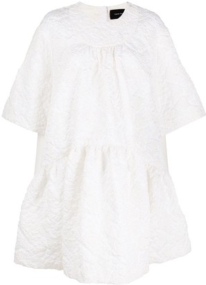 Simone Rocha Floral Cloque Shift Dress