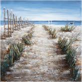 "Iicart Inc ""Walkway to the Beach"" Hand Painted Canvas Art, 40""x40"""