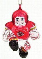 "Evergreen Kansas City Chiefs 3"" Crystal Halfback Ornament"