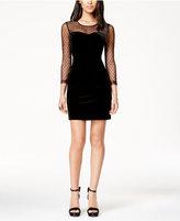 GUESS Velvet Illusion Bodycon Dress