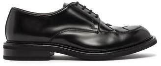 Bottega Veneta Leather Derby Shoes - Mens - Black