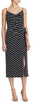 Lauren Ralph Lauren Striped Tie-Front Maxi Dress
