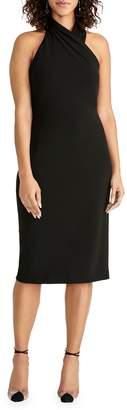 Rachel Roy High Neck Crepe Back Scuba Dress