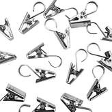 Super Z Outlet Heavy Duty Satin Nickel Curtain Clips w/Hook for Photos