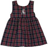 Princess Linens Plaid Initial Dress - Infant