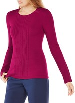 BCBGMAXAZRIA Marinah Cable Sweater