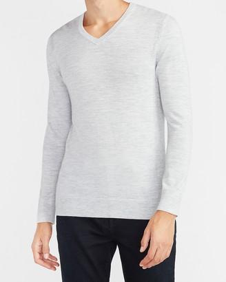 Express Merino Wool-Blend V-Neck Sweater