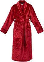 DKNY Sleepwear Signature Red Long Sleeve Fleece Robe