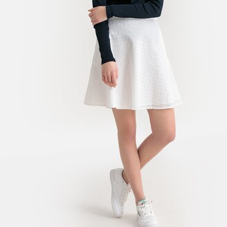 La Redoute Collections Broderie Anglaise Cotton Skirt