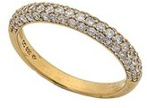 Crislu Pave Collection 18k Over Silver Cz Ring.