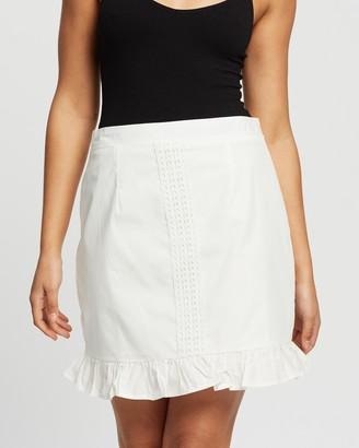 Missguided Co-Ord Poplin Crochet Frill Mini Skirt