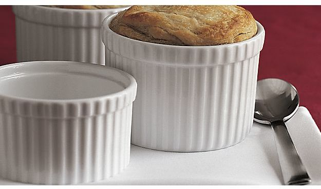 Crate & Barrel Soufflé Dish/Ramekins