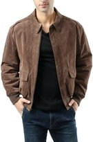 Landing Leathers Men's Air Force A-2 Suede Leather Flight Bomber Jacket - Tall XXLT