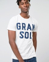 Esprit Slim Fit T-Shirt with Reto Gran Sol Print