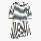 J.Crew Girls' asymmetrical-hem striped dress
