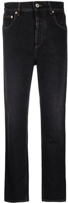 Loewe High-Waisted Faded Straight-Leg Jeans