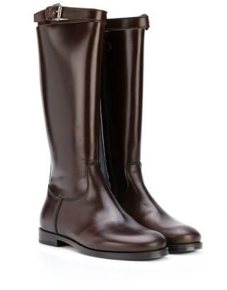 Gallucci Kids Strap-Detail Knee Boots