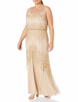 Adrianna Papell Women's Plus Size Sleeveless Blouson Gown