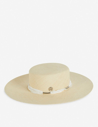 Maison Michel Mini Ursula wide-brimmed straw hat