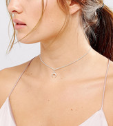 Dogeared Sterling Silver Let Imagination Shine Crescent Choker