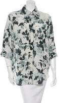 Raquel Allegra Orchid Print Silk Top w/ Tags