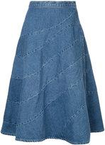 Anrealage Spiral denim skirt