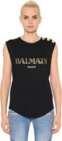 Balmain Print Cotton Jersey T-Shirt