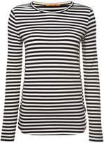 HUGO BOSS Terstripe stripe jersey top in open miscellaneous