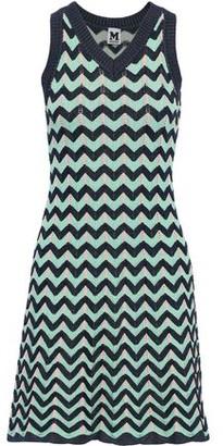 M Missoni Fluted Crochet-knit Dress
