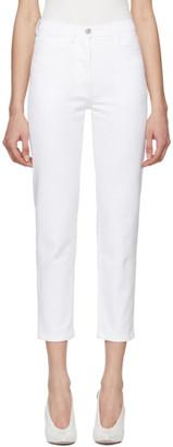 A Plan Application A-Plan-Application White Straight Cropped Jeans