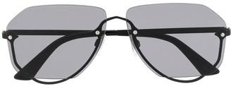Alexander McQueen Eyewear 0257S00163 geometric-frame sunglasses