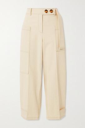 REJINA PYO Sadie Cropped Cotton-canvas Cargo Pants - Ecru
