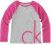 Calvin Klein Logo-Graphic Long-Sleeve Cotton T-Shirt, Big Girls (7-16)
