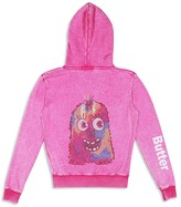 Butter Shoes Girls' Studded Monster Hoodie - Sizes 4-6
