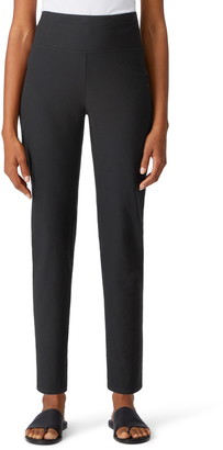 Eileen Fisher High Waist Ankle Slim Pants