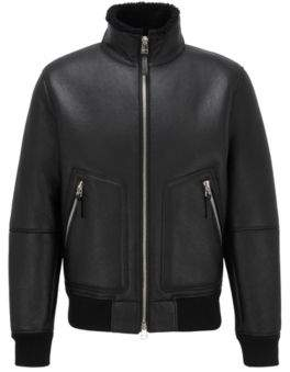 Lambskin jacket with shearling inner