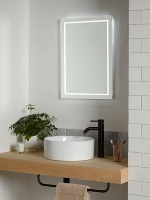 John Lewis & Partners Frame Wall Mounted Illumintaed Bathroom Mirror, Small