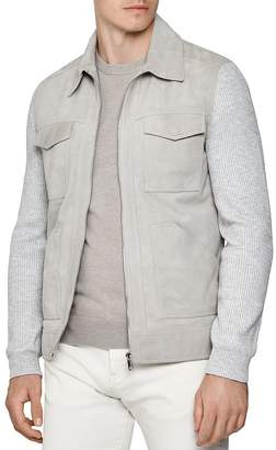 Reiss Meadow Suede Four-Pocket Jacket