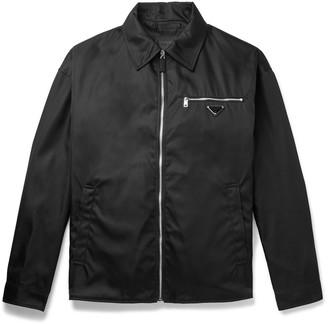 Prada Oversized Logo-Appliqued Nylon Blouson Jacket