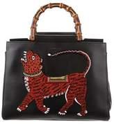 Gucci 2017 Tiger Nymphaea Medium Top Handle Bag