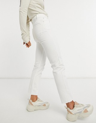 Brave Soul fran high waisted mom jeans in white